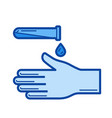 disinfection line icon vector image