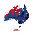 Map of Australia vector image