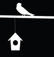 sparrow and house vector image