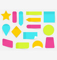 a colored set sticky notes flat design modern vector image