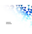 abstract background triangles design vector image vector image