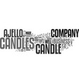 ajello candles text word cloud concept vector image vector image