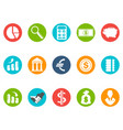 bank round buttons icon set vector image vector image