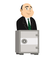 banker and safe vector image vector image