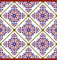 beautiful tile pattern vector image vector image