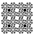 black and white kaleidoscopic design or color vector image