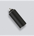 black paint aerosol spray metal bottle can vector image vector image