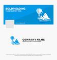Blue business logo template for explore travel