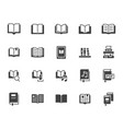 book flat icons set open books dictionary bible vector image vector image