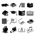 books education icons set vector image vector image