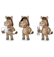 Brown Donkey Mascot with phone vector image vector image
