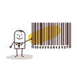 businessman and bar code vector image