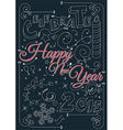 celebrate happy new year 2015 vector image