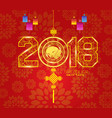 chinese new year lantern ornament design year og vector image vector image