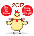 Chinese New Year With The Rooster Cartoon vector image