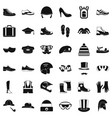 clothing accessories icons set simple style