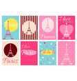 collection of banners with eiffel tower vector image