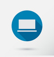 computer icon in flat style vector image vector image