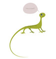 cute lizard isolated on white background and vector image vector image
