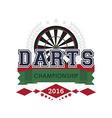 Darts championship emblem vector image vector image