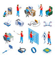 digital gadget evolution isometric icons vector image vector image
