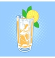 Drink with lime mint and ice vector image