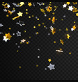 falling golden and silver stars vector image