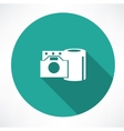 film reel and the camera icon vector image vector image