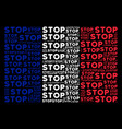 france flag collage of stop text items vector image