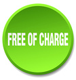 free of charge green round flat isolated push vector image vector image