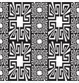 geometric black and white greek seamless borders vector image