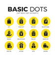 gift box flat icons set vector image vector image
