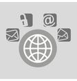 globe bubble speech social media vector image vector image