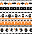 Halloween seamless pattern - pumpkin ghost vector image