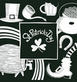 hand drawn st patricks day design template vector image vector image