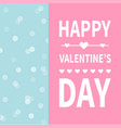happy valentines day calligraphy lettering text vector image