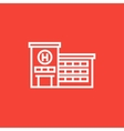 Hospital building line icon vector image vector image