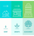 infographics design elements and icons in linear vector image vector image