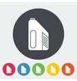 Jerrycan single flat icon vector image vector image