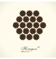 logo design Floral round gold islam star vector image vector image