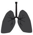 lung icon on white background lung sign vector image vector image