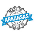 made in arkansas round seal vector image vector image