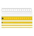 measuring rulers tape measure vector image