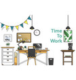 minimal work office style vector image