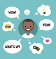 modern communication concept happy black guy vector image vector image