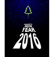 New year and Christmas tree Light Christmas tree vector image