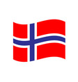 norway waving flag icon eps10 vector image vector image