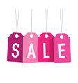 pink sale tags vector image vector image