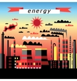 Plant and thermal power plant vector image vector image