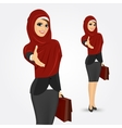pretty young muslim woman vector image